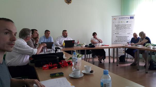 Teilnehmer des Treffens. In der Mitte des Fotos der Moderator des Treffens Prof. Christian Lis von der Universität Szczecin Foto: Dr. Dawid Dawidowicz