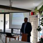 Kierownik projektu INT107 dr Wojciech Zbaraszewski podczas prezentacji Autor zdjęcia: dr Dawid Dawidowicz