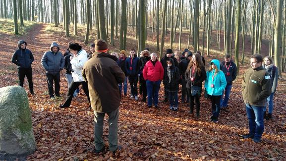 Uczestnicy spotkania podczas pobytu w Puszczy Bukowej Autor zdjęcia: Wojciech Zbaraszewski
