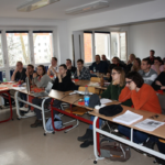 Kierownik projektu INT107 REGE dr Wojciech Zbaraszewski podczas seminarium Autor zdjęcia: prof. Marius Mayer