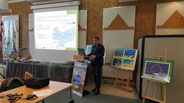 Auf dem Foto der Leiter des Projekts INT107 Dr. Wojciech Zbaraszewski informiert über die Projektgrundsätze Foto: Dr. Dawid Dawidowicz