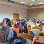 Teilnehmer des Treffens in dem wissenschaftlichen Seminar. Im Vordergrund Martin Balàš von der HNEE. Foto: Dr. Dawid Dawidowicz